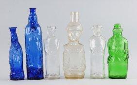 Lot Of 6: Figural Bottles.