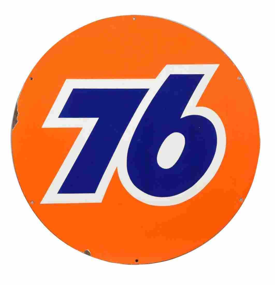 (Union) 76 Porcelain Sign.