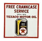 Texaco (black-T) Motor Oil Porcelain Sign.