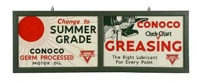 Lot of 2: Conoco Tin Signs.