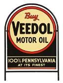 Buy Veedol Motor Oil Tin Tombstone Shaped Sign