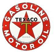 Texaco (black-T) Gasoline Motor Oil Sign.