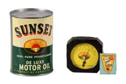 Sunset De Luxe Motor Oil One Quart Can & More.