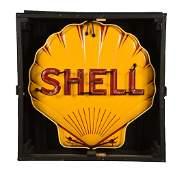 Shell Porcelain Embossed Shell Shaped Neon Sign.