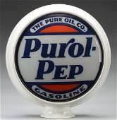 "Purol-Pep Gasoline (Pure) 15"" Globe Lenses."