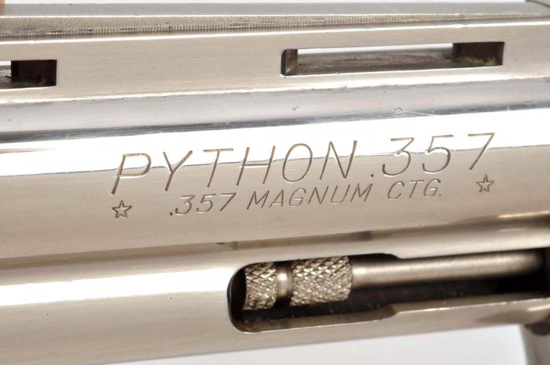 (C) 1st Factory Nickel Colt Python Revolver (1959) - 4
