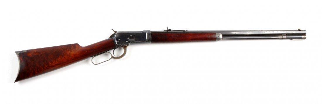 (A) Winchester Model 1892 Takedown L.A. Rifle.