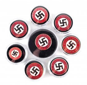 Lot Of 8: Nazi Party Pins.