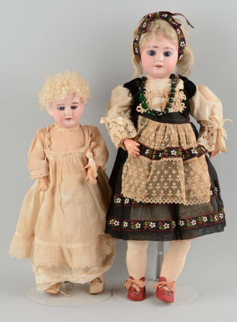 Lot Of 2: Antique German Bisque Head Dolls.