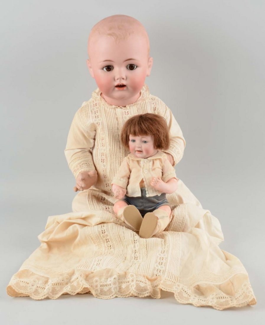 Lot Of 2: Antique German Character Baby Dolls.