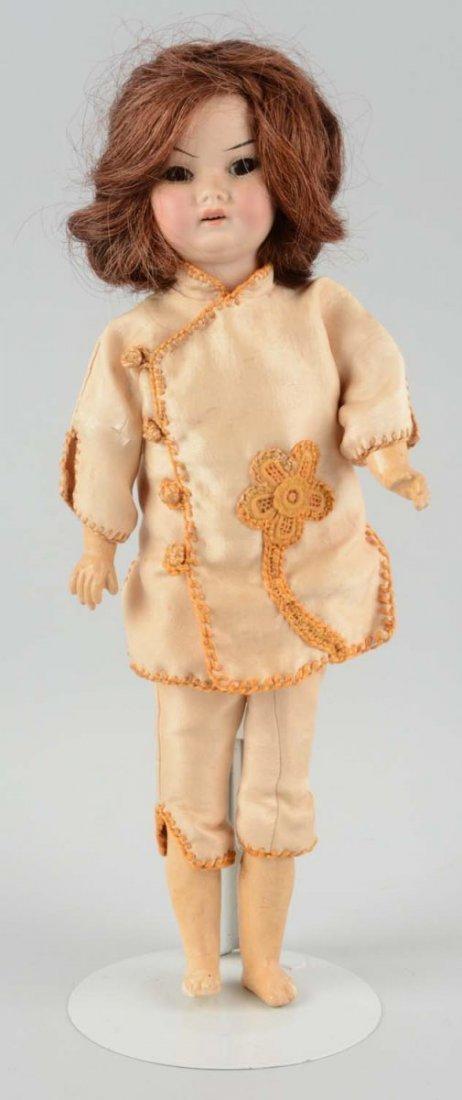 Antique German Oriental Bisque Head Doll.