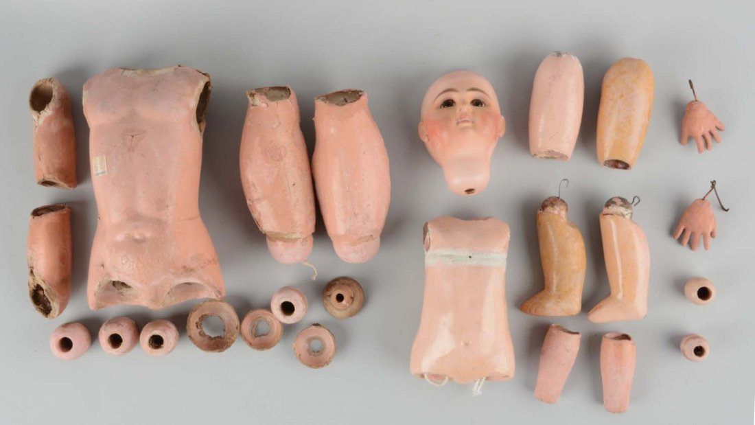 Lot Of Antique Doll Parts.
