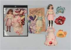 Lot of 3: Antique Raphael Tuck Paper Doll Sets.