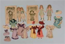 Lot of 3: Antique Raphael Tuck Paper Dolls.