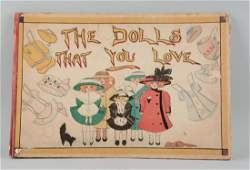 'Dolls That You Love' Antique Paper Doll Book.