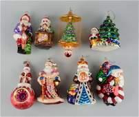 Lot Of 8: Radco Christmas Ornaments.