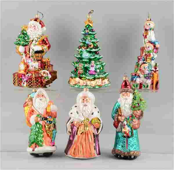 Lot Of 6: Large Radco Christmas Ornaments.