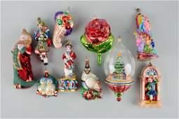 Lot Of 10: Radco Christmas Ornaments.
