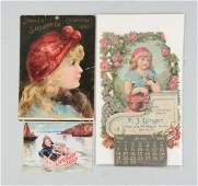 Lot Of 3 Advertising Calendars  Trade Card
