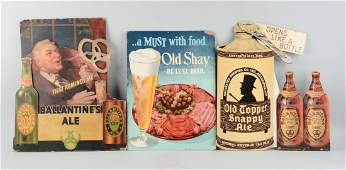 Lot Of 4 DieCut Advertising Beer Signs