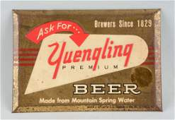 Yuengling Beer Tin over Cardboard Sign.