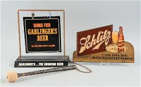 Lot Of 2 Gablingers  Schlitz Beer Signs