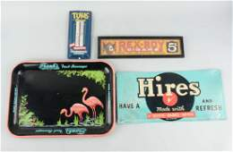 Lot of 4 Assorted Advertising Signs