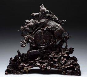 Carved Black Forest Clock.