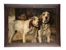 H R Poore Hunting Dogs Print