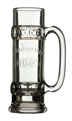 Conrad & Co. Budweiser Beer Acid Etched Stein.