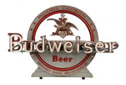 Anheuser-Busch Budweiser Beer Neon Sign.