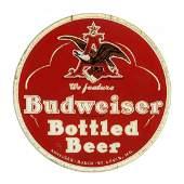 Anheuser-Busch Budweiser Beer Reverse Glass Sign.