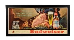 AnheuserBusch Budweiser Cardboard Sign