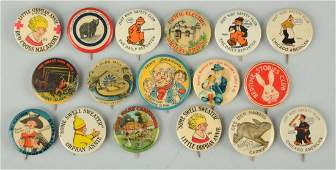 Lot of 17 Assorted Celluloid Advertising Pinbacks