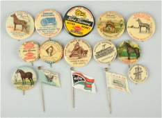 Lot of 15 Agriculture Related Celluloid Pinbacks