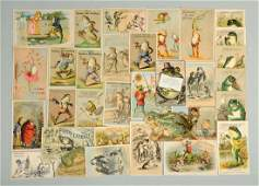 Lot of 20 Frog Related Advertising Trade Cards