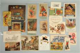 Lot of 18 Fire Related Trade Cards