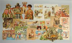 Lot of 15 Assorted Advertising Trade Cards