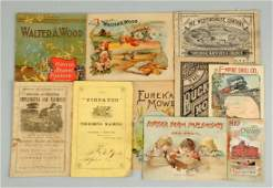 Lot of 10 Early Agriculture Brochures  Catalogs