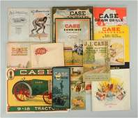 Lot of 10 Early Case Machinery Brochures