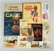 Lot of 12 Early Case Machinery Brochures  Cards