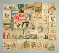 Lot of 20 Advertising Trade Cards w Pigs