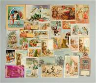 Lot of 20 Santa Claus  Christmas Trade Cards