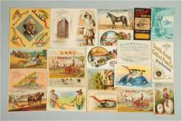 Lot of 15 Agriculture Related Trade Cards