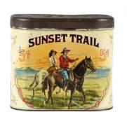 Sunset Trail Advertising Cigar Tin