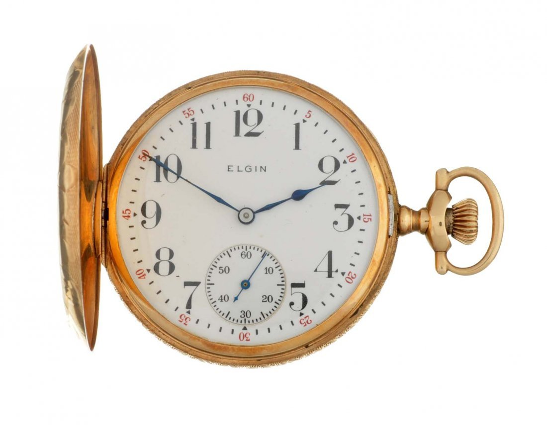14k Gold 1916 Elgin H/C Pocket Watch