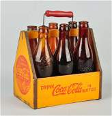 Coca-Cola 6-Pack Carrier w/ Bottles.