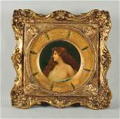 Framed Plate w/ a Portrait of a Lady.