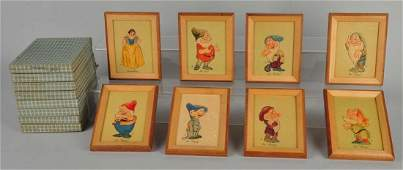 Lot Of 8: Snow White & Seven Dwarfs Wall Plaques.
