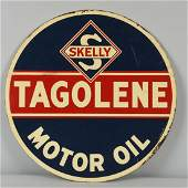 Skelly Tagolene Motor Oil Tin Sign.